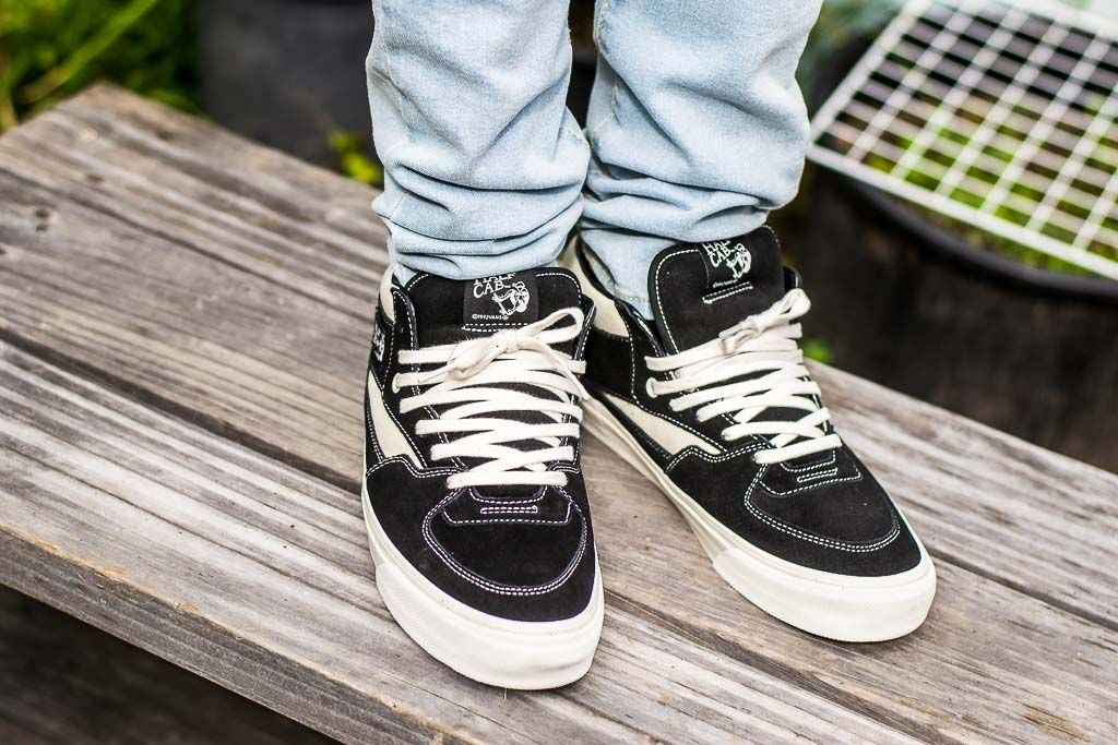 e92ee864f6 See how the Vans Vault OG Half Cab LX Black Marshmallow looks on feet in  this