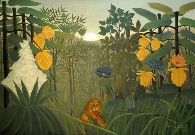 The Repast Of The Lion Henri Rousseau Le Douanier French