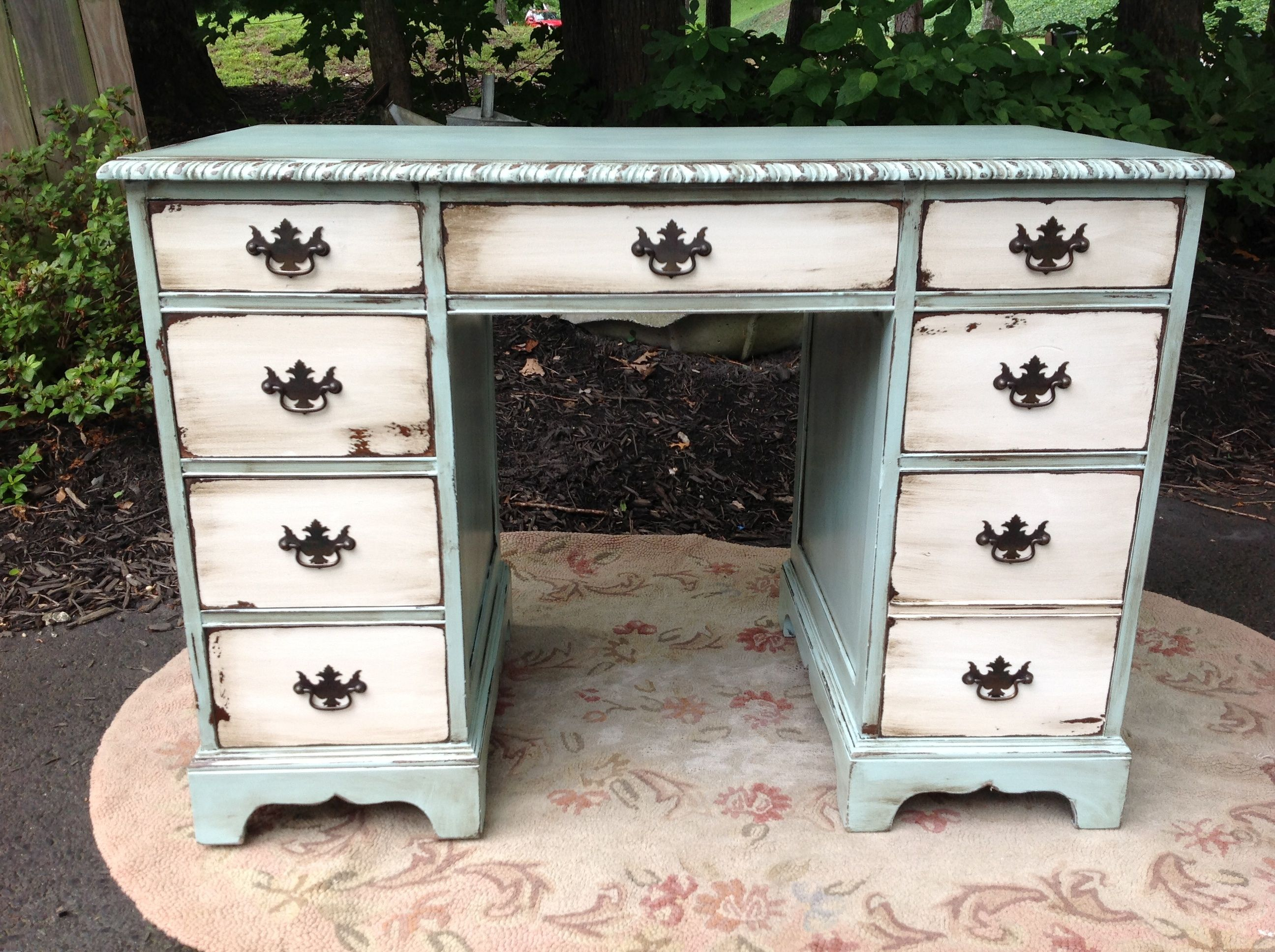 Designed, Hand painted, aged & glazed by Gracie's Cottage