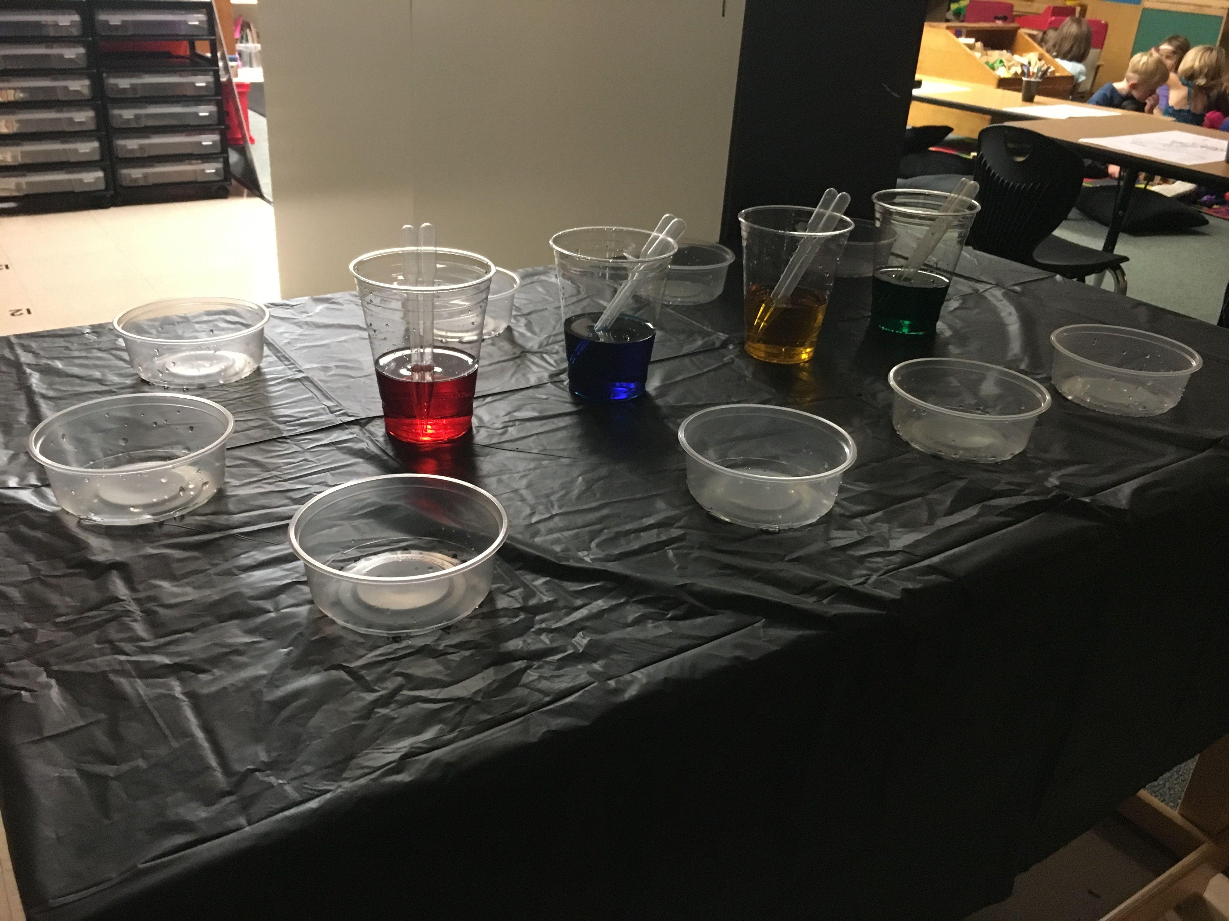 Kindergarten Color Mixing Inquiry