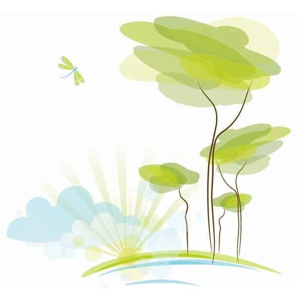 Abstract Nature Background Vector Illustration Free Vector - nature powerpoint template