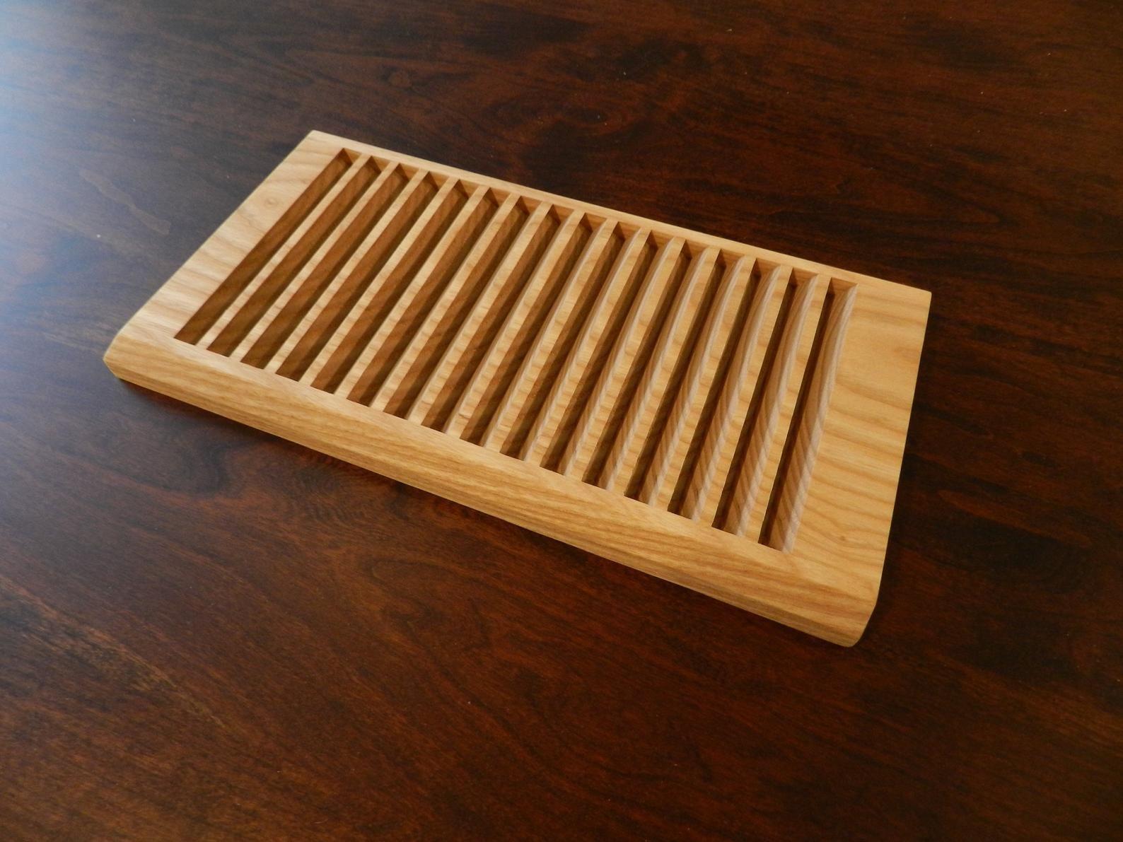 Plate Rack-Mahogany Wood-for Vertical Plate Storage #plateracks