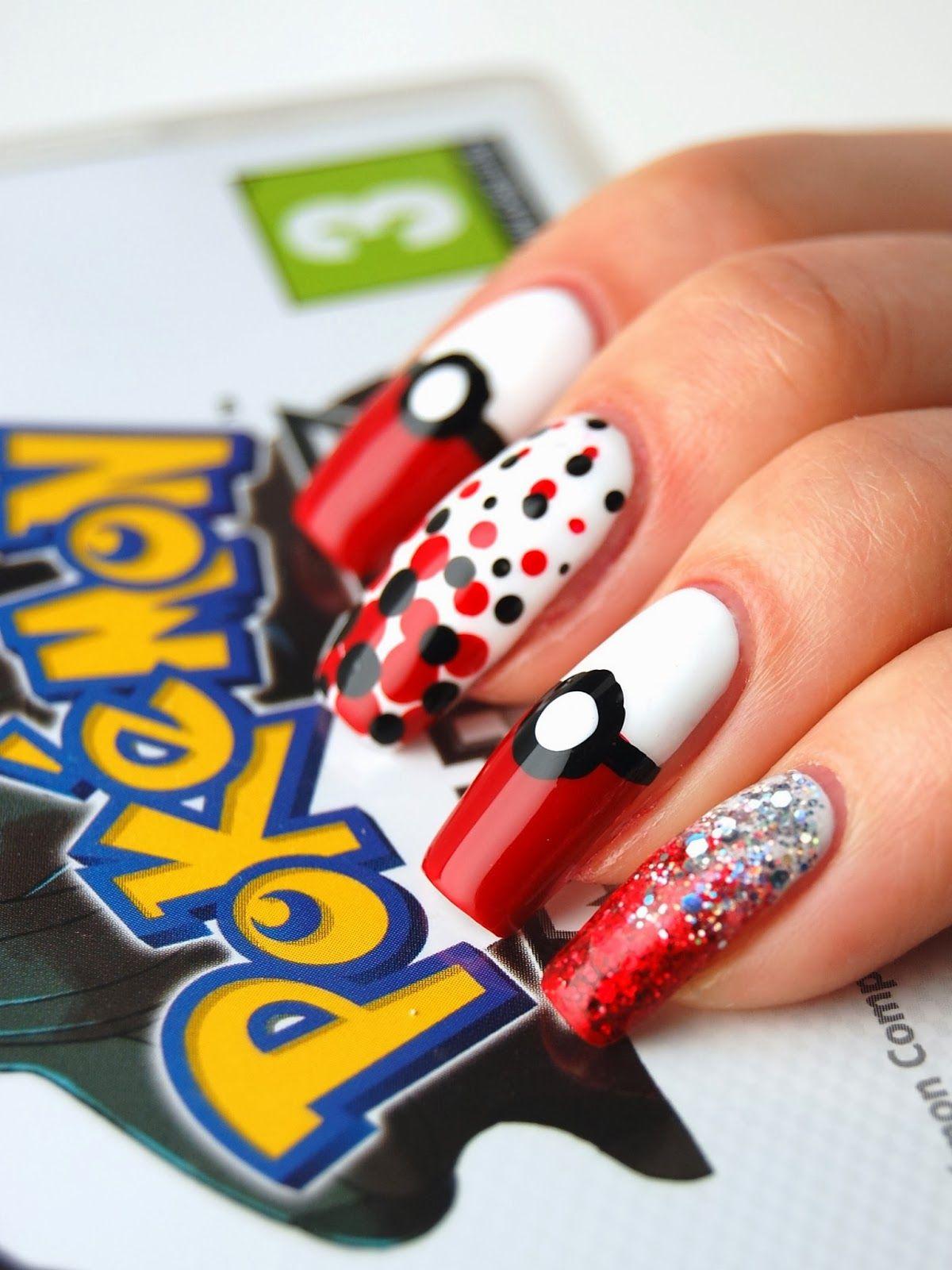 Pokemon Nail Art Nails