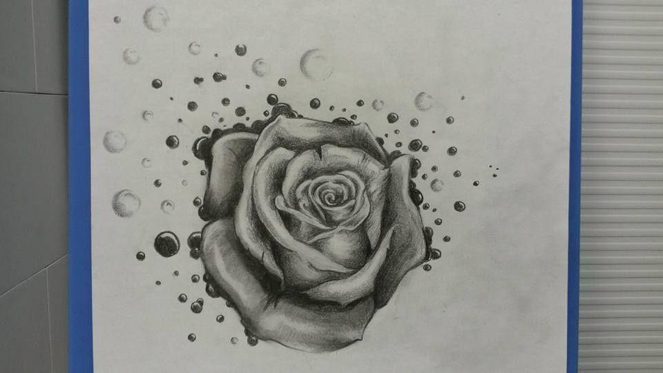 une rose en noir et gris sign e julien dirtycool tatouage tattoo fleurs flower tattos. Black Bedroom Furniture Sets. Home Design Ideas
