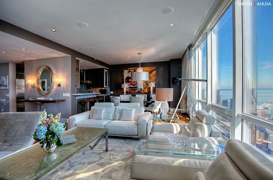 Trump tower chicago condominiums interior design by for Hotel decor for sale