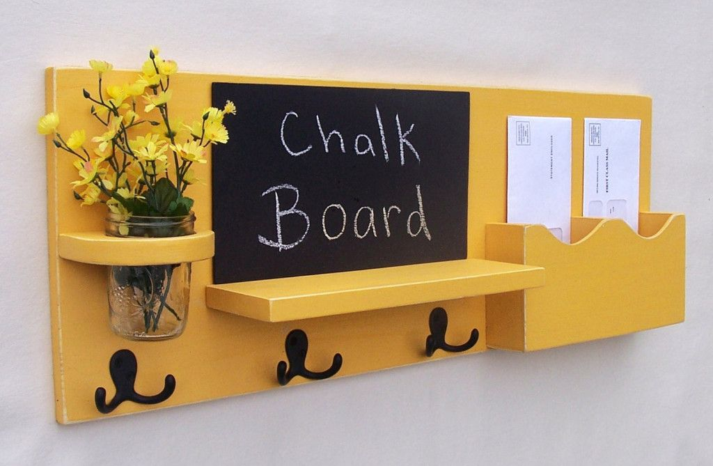 diy chalkboard mail organizer - Chalkboard Key Holder and How You ...