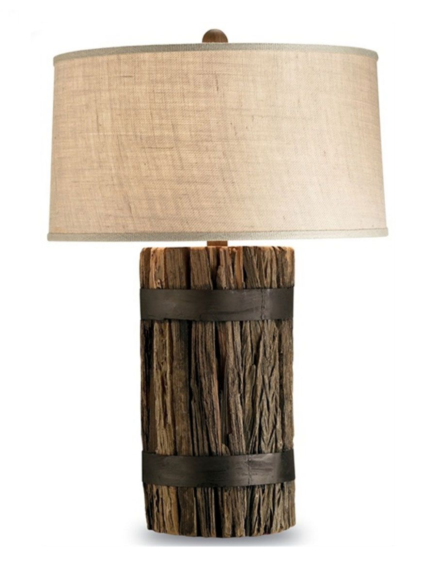 Pier Piling Table Lamp | Cottage Home® | Rustic table lamps