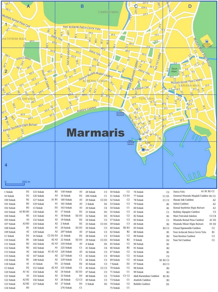 Marmaris street map Maps Pinterest Marmaris and City