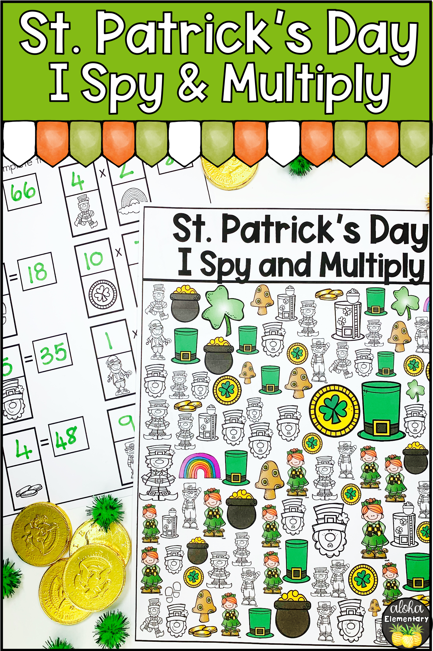 St Patrick S Day Spy And Multiply Math Activity