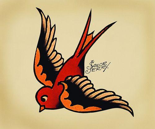 Sailor Jerry Swallow Sailor Jerry Tattoos Sparrow Tattoo Design Jack Sparrow Tattoos