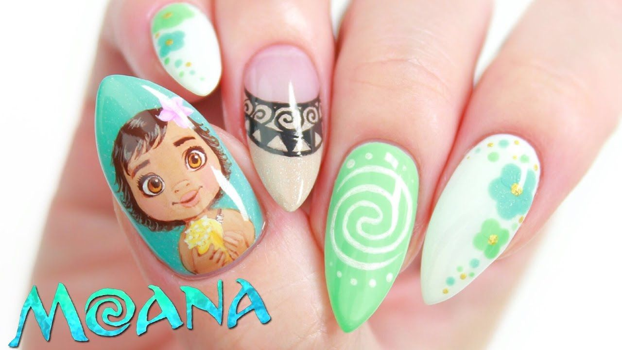 Disney\'s Moana Nail Art Design Tutorial | NAIL ART IDEAS & TUTORIALS ...