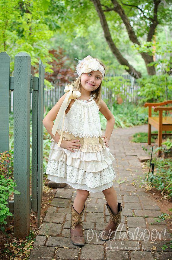 Barn Wedding Flower Girl Dress