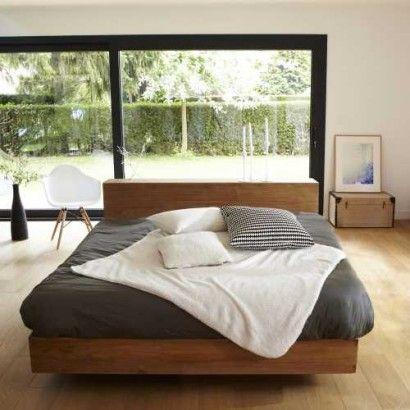 Bett aus Teak 160x200 Flat Schlafzimmer Pinterest Flache - schlafzimmer bett 160x200