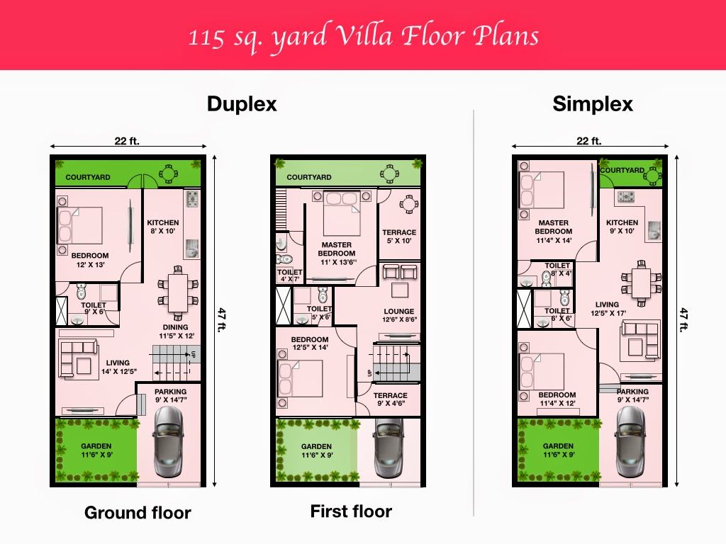 Image Result For House Plan 20 X 50 Sq Ft 2bhk House Plan 20x40 House Plans Duplex House Plans