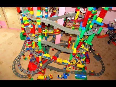 Huge Lego 9 volt train dream layout fully automated by Arduino video ...
