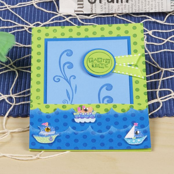 Little Boy Sailboat Birthday Party: Sailboat Invitation