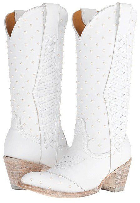 Old Pearl Bride Boots White Cow