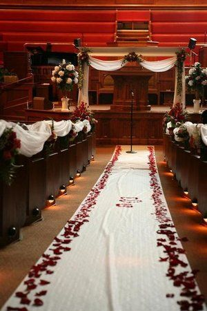 Church Wedding Ideas Love This Idea Besides Thw RED Would Rather Different Color Flowers