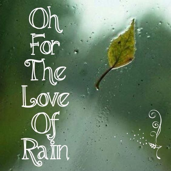 Oh For The Love Of Rain Rain Quotes On Picturequotescom Thank