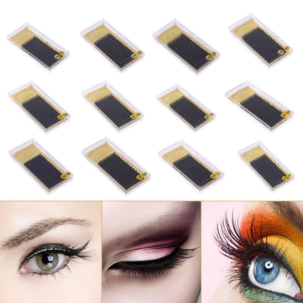 3f1b6ddaf4d Pro Mink 3D Volume Lashes Individual False Eyelash Extensions B C D Curl  0.20Mm