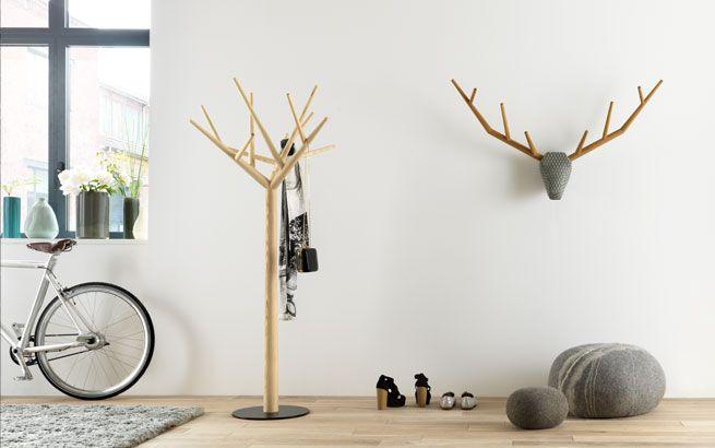 Kleiderständer Holz kleiderständer y und geweih aufhänger yy klybeck interior