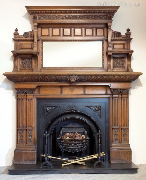 Phenomenal Victorian Carved Oak Fireplace Surround Antiques Atlas Com Interior Design Ideas Oxytryabchikinfo