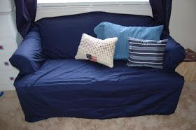 Diy Couch Cover The Lazy Way