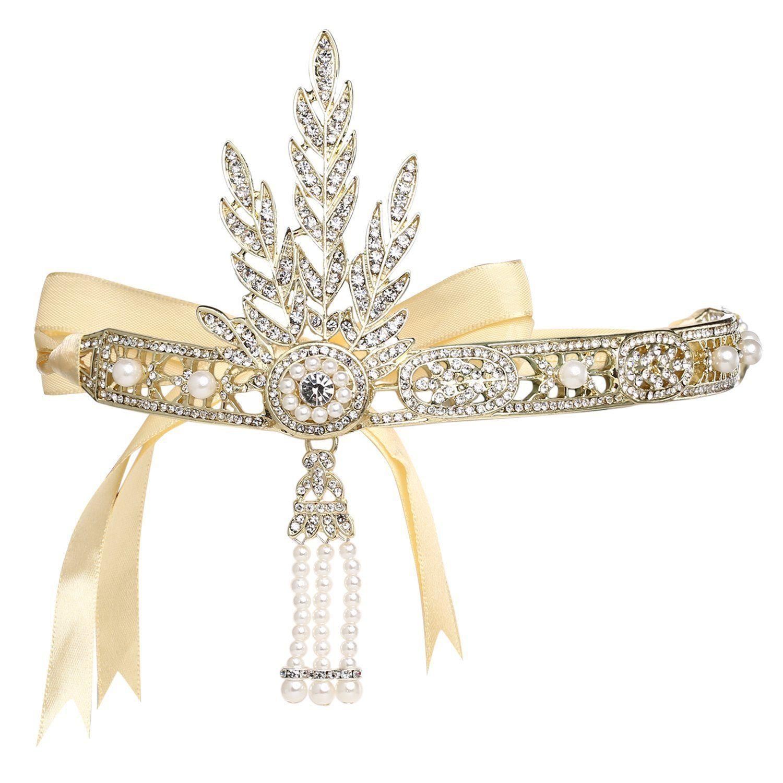 sfumature di consegna gratuita stili classici Babeyond Fascia Anni 20 Gatsby Flapper Headband Fascia Charleston ...