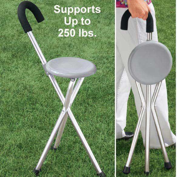 Folding Cane Seat View 2 Folding Cane Walking Cane With Seat Ergonomic Seating