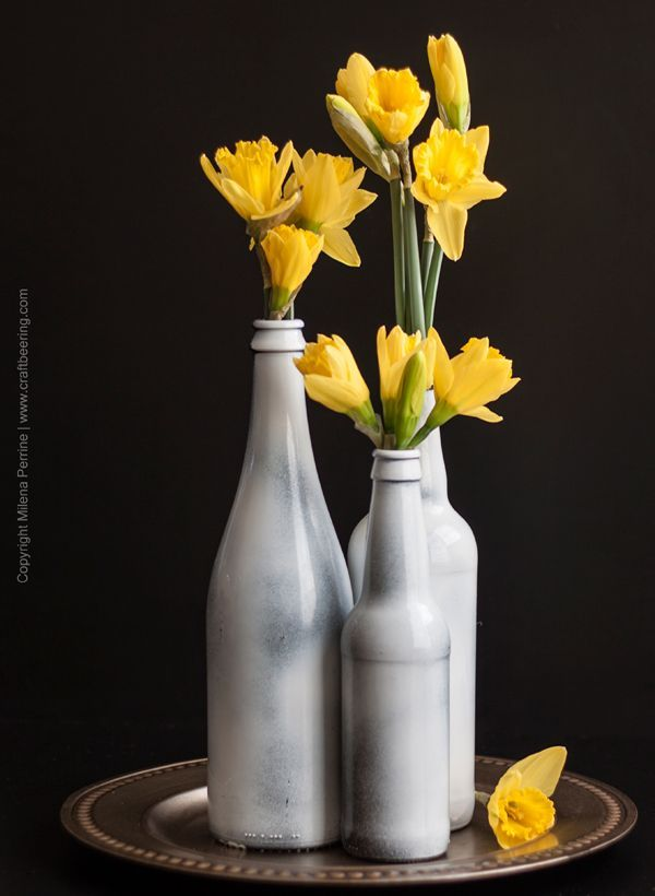 Beer Bottle Vase Centerpiece A Unique Gift Idea For Beer Lovers