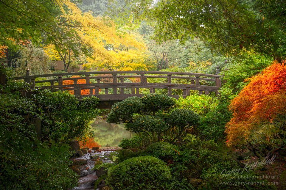 Zen Garden Bridge Autumn Pinterest Garden Bridge Portland