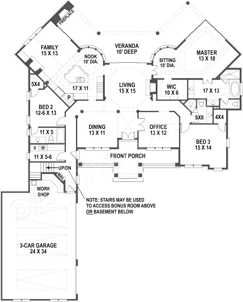 Lakefront House Plan Of 4 Bedrooms 3 Bathrooms Industrial House Plans Lakefront Homes House Plans