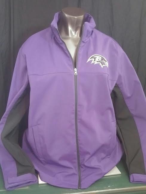Baltimore Ravens coat NFL mens jacket full zip NWT purple black embroidered XL #NFL #BaltimoreRavens