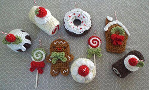 Christmas Sweets Ornament Crochet Pattern Set                                                                                                                                                                                 More