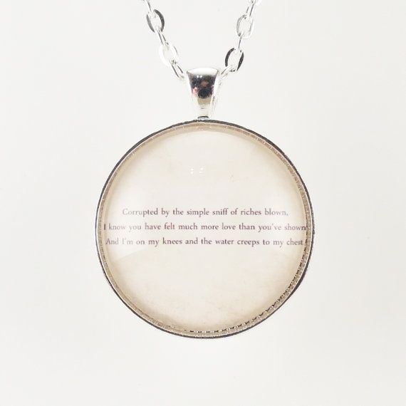 5cef554e9129f Personalized Song Lyric Necklace Custom Pendant by cellsdividing ...