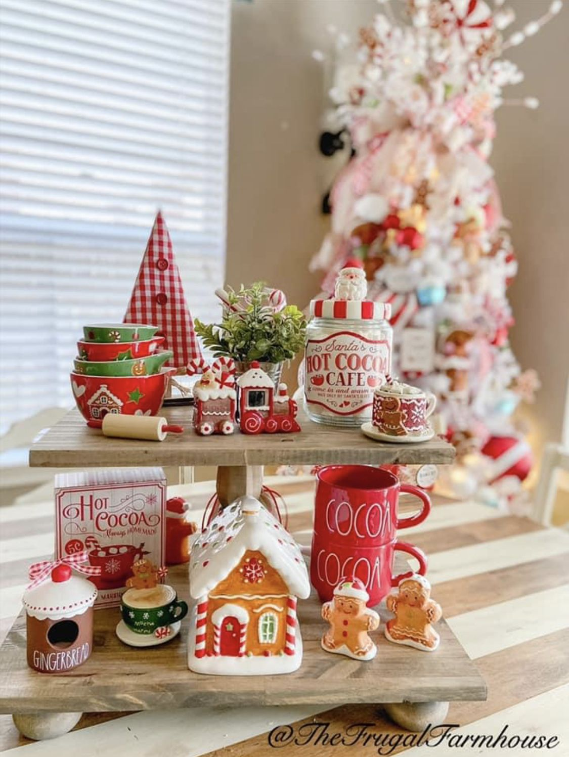 Pin By Dominique Cartee On Rae Dunn Displays Candy Christmas Decorations Gingerbread Christmas Decor Christmas Kitchen Decor