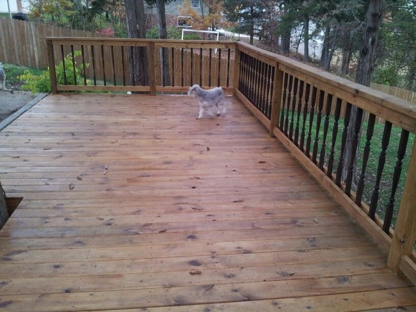 Deck stained with cabot 39 s honey teak diy projects for Garden decking varnish