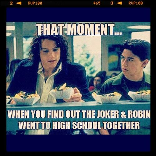 Funny and now I want to watch 10 Things I Hate About You