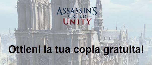 Campione gratuito Videogioco Assassin's Creed: Unity per computer