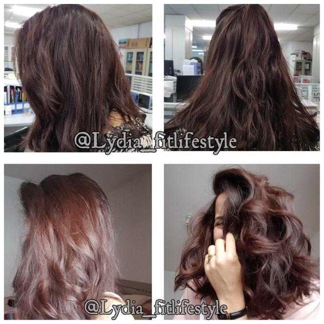 Coloration des cheveux en marron clair avant et aprГЁs