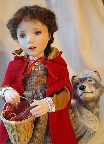 Jane Bradbury Collectible Dolls     --   Could it be?    Yes, It's Little Red Riding Hood.