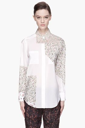 61e1d58cb48c8 3.1 Phillip Lim White Colorblocked Floral Print Silk Blouse