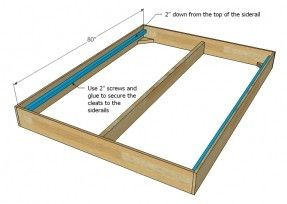 Bed Frame Plans To Help With Tutorial Must Be Modified For King