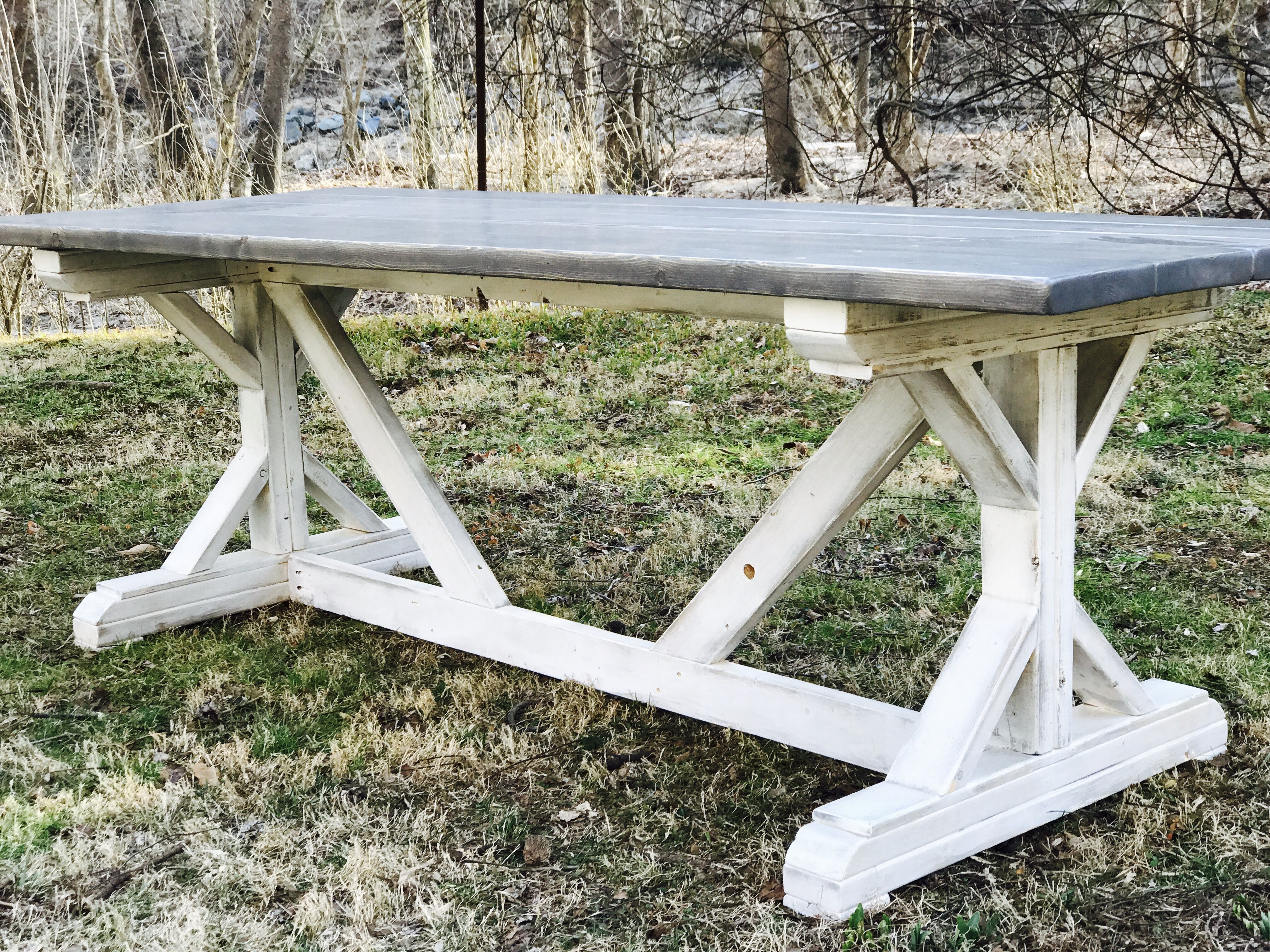 Ana White Fancy X Farmhouse Table Diy Projects Diy Farmhouse Table Plans Farmhouse Table Plans Farmhouse Kitchen Table Diy