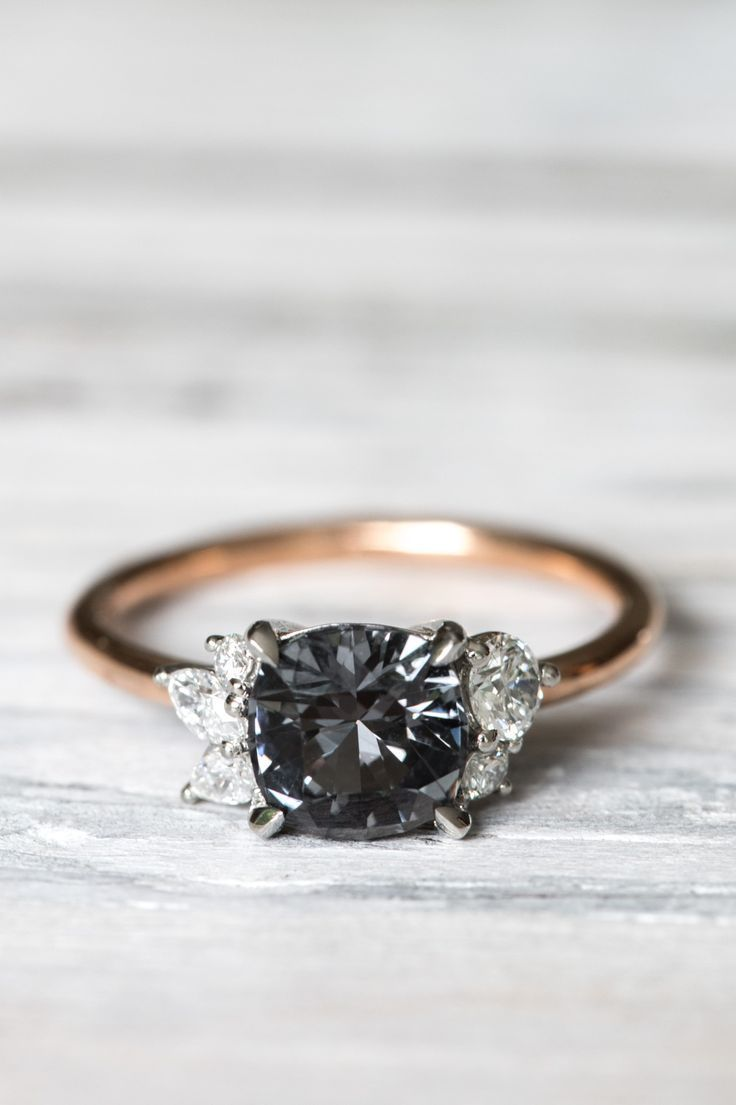 the black engagement rings and diamond gorgeous wedding