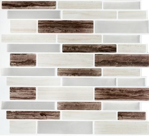 Peel Impress Peel And Stick Backsplash Tiles At Menards
