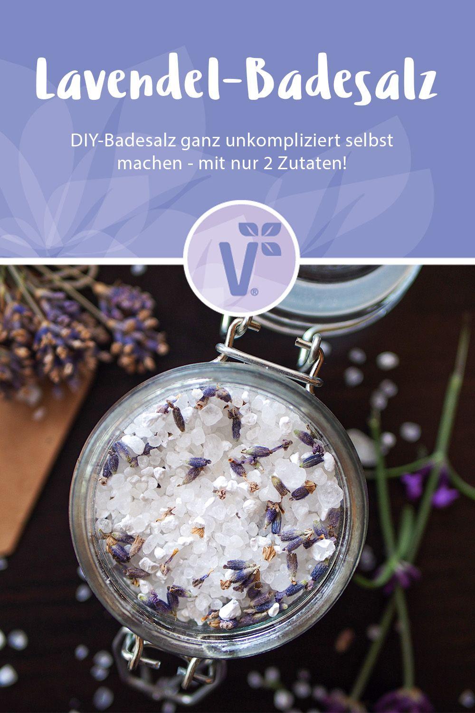 Lavendel-Badesalz selber machen - mit nur 2 Zutaten #badesalzselbermachen