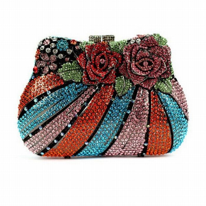 Flower Shaped Crystal Rhinestone Evening Bags 16 In 2020 Evening