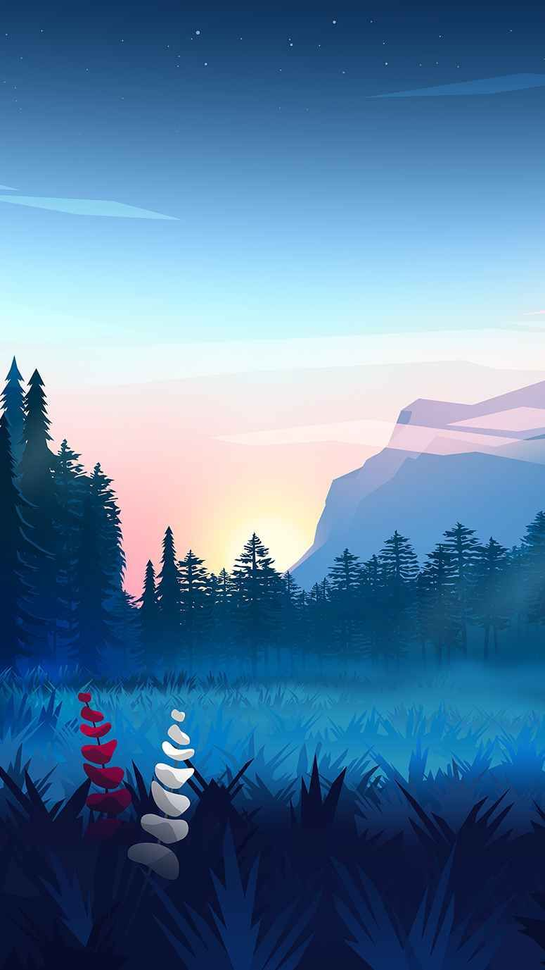 Iphone Wallpapers Wallpapers For Iphone Xs Iphone Xr And Iphone X Nature Wallpaper Forest Art Digital Wallpaper