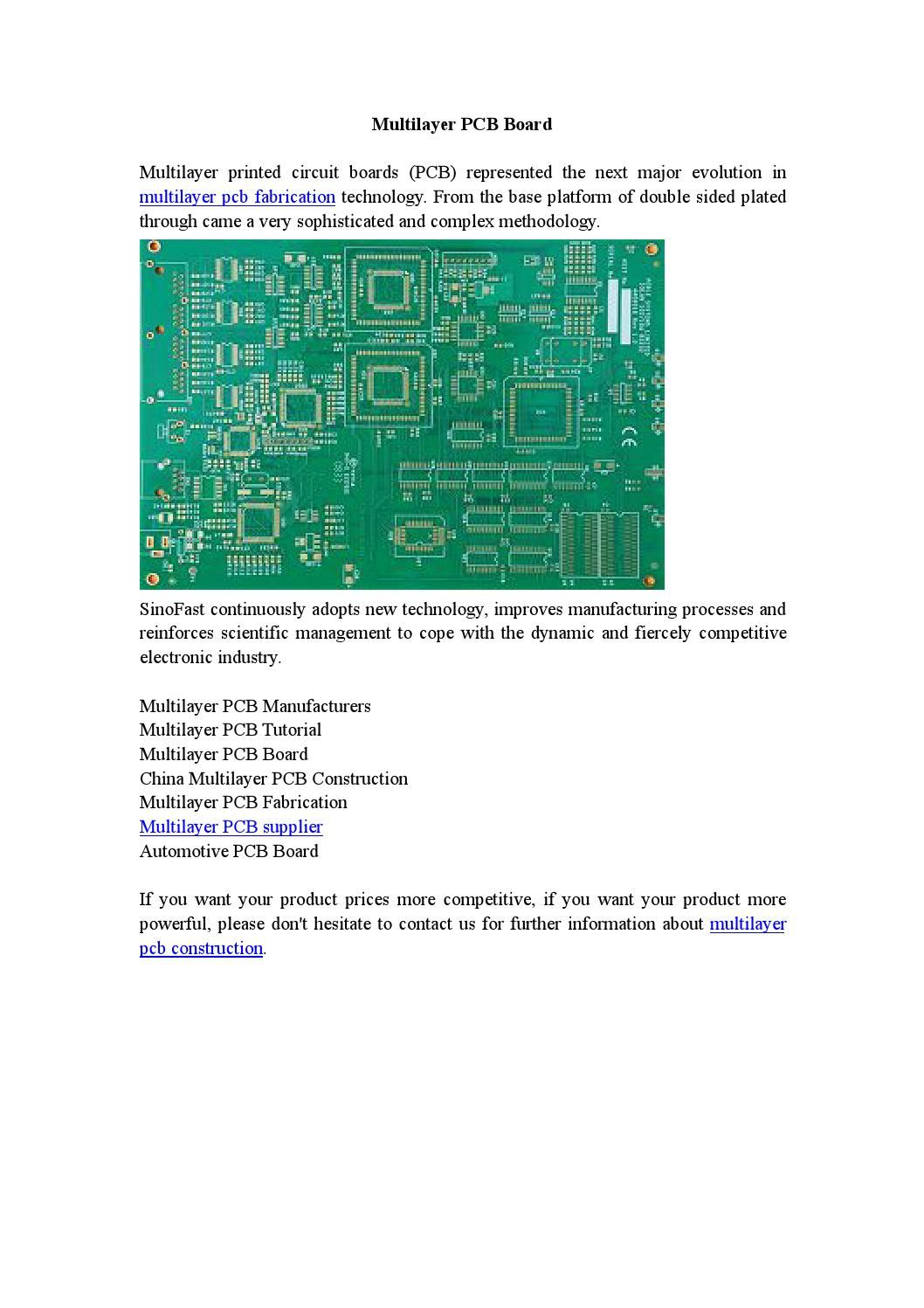 Multilayer Pcb Board Introduction Of Pcba Pinterest Printed Wiring
